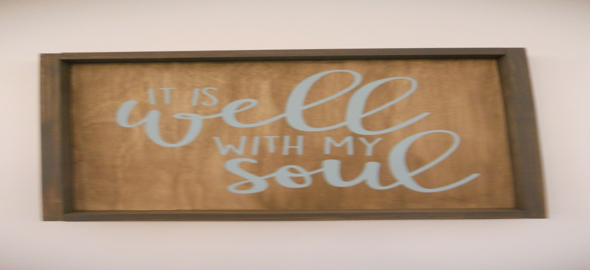 """It is well, with my soul"""